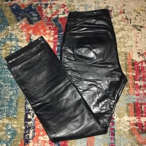 GAP Leather Pants